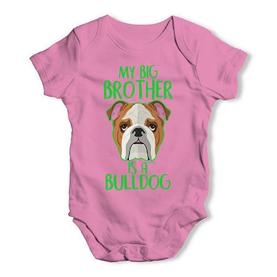 Personalised My Sibling Is A Bulldog Baby Unisex Baby Grow Bodysuit