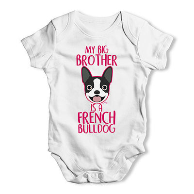 Personalised My Sibling Is A French Bulldog Baby Unisex Baby Grow Bodysuit