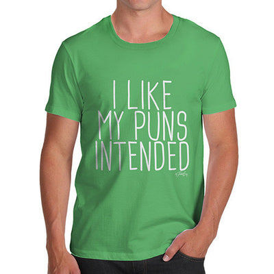 I Like My Puns Intended Men's T-Shirt