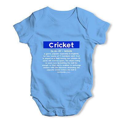 Cricket Definition Baby Unisex Baby Grow Bodysuit