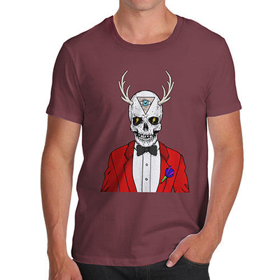 Illuminati Skull Man Men's T-Shirt