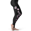 Love Heart Paw Prints Women's Leggings