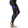 Meow Cat Paw Prints Women's Leggings