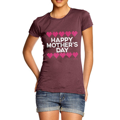 Mother's Day Pixel Hearts Women's T-Shirt