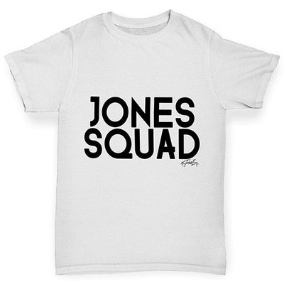 Personalised Surname Squad Boy's T-Shirt