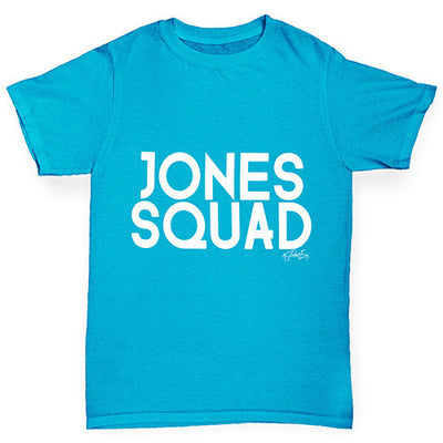 Personalised Surname Squad Girl's T-Shirt