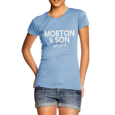 Personalised Name And Son Women's T-Shirt