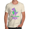 Personalised Cute T-Rex Men's T-Shirt
