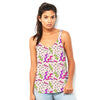 Eighties Squiggle Pattern Women's Flowy Side Slit Tank