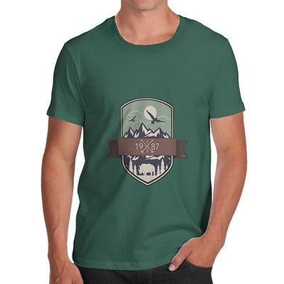 Camping Eagles Mountains Men's T-Shirt