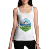 Adventure Begins Mountains Landscape Women's Tank Top
