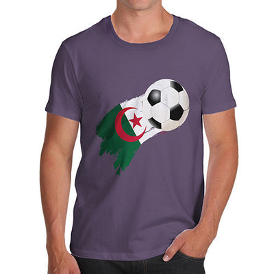 Algeria Football Flag Paint Splat Men's T-Shirt