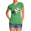 Algeria Football Flag Paint Splat Women's T-Shirt