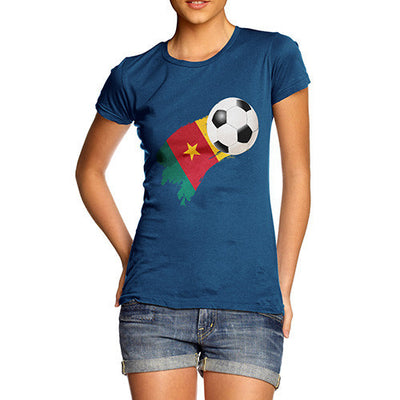 Cameroon Football Flag Paint Splat Women's T-Shirt