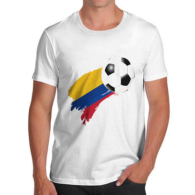 Colombia Football Flag Paint Splat Men's T-Shirt
