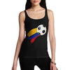 Colombia Football Flag Paint Splat Women's Tank Top