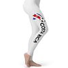 Costa Rica Football Soccer Flag Paint Splat Women's Leggings