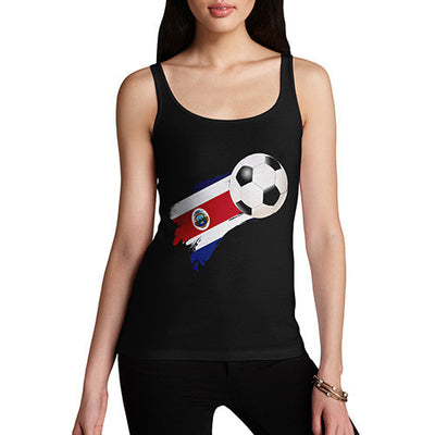 Costa Rica Football Flag Paint Splat Women's Tank Top