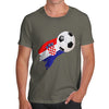 Croatia Football Flag Paint Splat Men's T-Shirt