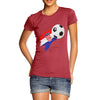 Croatia Football Flag Paint Splat Women's T-Shirt