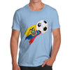 Ecuador Football Flag Paint Splat Men's T-Shirt