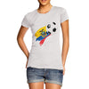 Ecuador Football Flag Paint Splat Women's T-Shirt