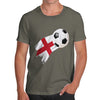 England Football Flag Paint Splat Men's T-Shirt