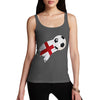 England Football Flag Paint Splat Women's Tank Top