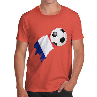 France Football Flag Paint Splat Men's T-Shirt
