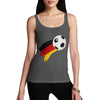 Germany Football Flag Paint Splat Women's Tank Top