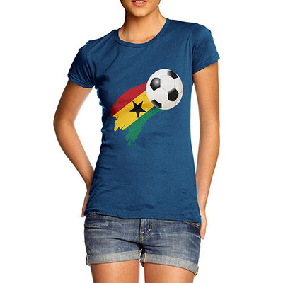 Ghana Football Flag Paint Splat Women's T-Shirt
