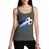 Honduras Football Flag Paint Splat Women's Tank Top