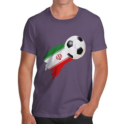 Iran Football Flag Paint Splat Men's T-Shirt