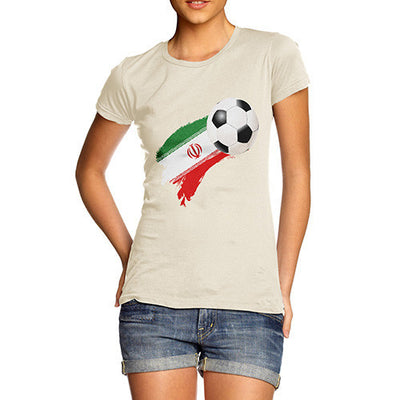 Iran Football Flag Paint Splat Women's T-Shirt