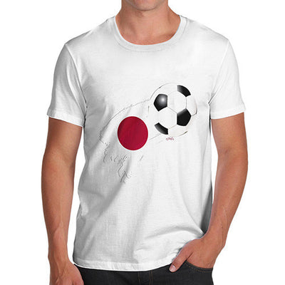 Japan Football Flag Paint Splat Men's T-Shirt