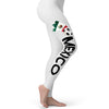 Mexico Football Soccer Flag Paint Splat Women's Leggings