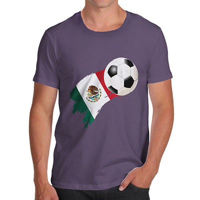 Mexico Football Flag Paint Splat Men's T-Shirt
