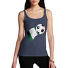 Nigeria Football Flag Paint Splat Women's Tank Top