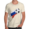 Russia Football Flag Paint Splat Men's T-Shirt