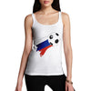 Russia Football Flag Paint Splat Women's Tank Top