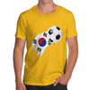 South Korea Football Flag Paint Splat Men's T-Shirt