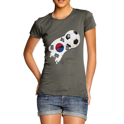 South Korea Football Flag Paint Splat Women's T-Shirt