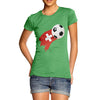 Switzerland Football Flag Paint Splat Women's T-Shirt