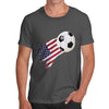 USA Football Flag Paint Splat Men's T-Shirt