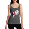 USA Football Flag Paint Splat Women's Tank Top