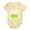 Personalised Full Battery Baby Unisex Baby Grow Bodysuit