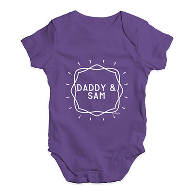 Personalised Daddy And Name Baby Unisex Baby Grow Bodysuit