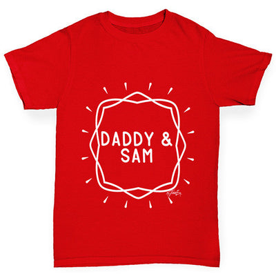 Personalised Daddy And Name Girl's