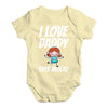 I Love Daddy This Much Girl Baby Unisex Baby Grow Bodysuit