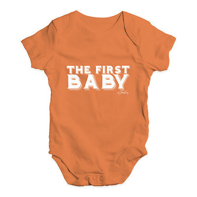 The First Baby Baby Unisex Baby Grow Bodysuit